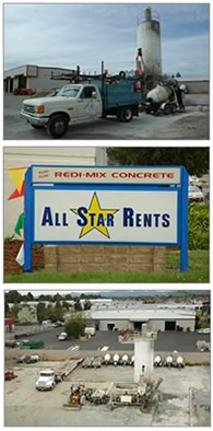 Ready Mix Concrete Sales in Sacramento CA | All Star Rents