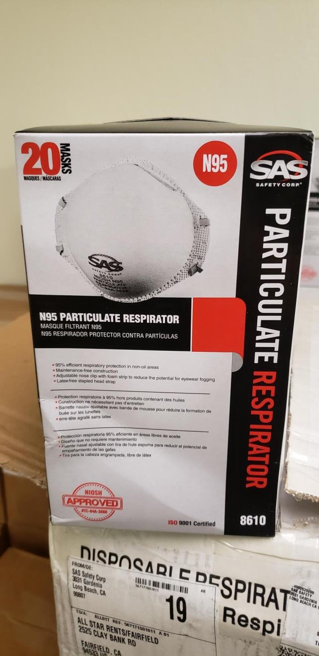 Where to find MASK, N95 PARTICULATE RESPIRATOR in Sacramento
